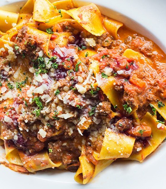 PAPPARDELLE BOLOGNESE | IMAGE COURTESY OF GIOVANNI'S KITCHEN
