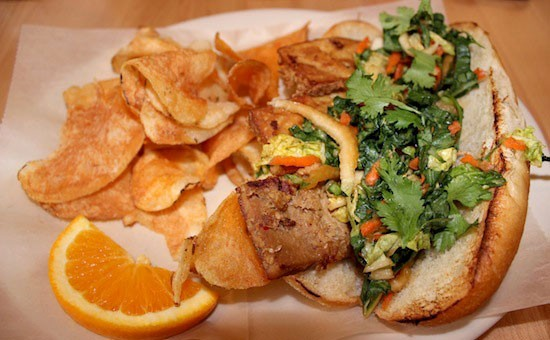 "The ""Organic Banh Mi"" at Local Harvest Cafe & Catering downtown 