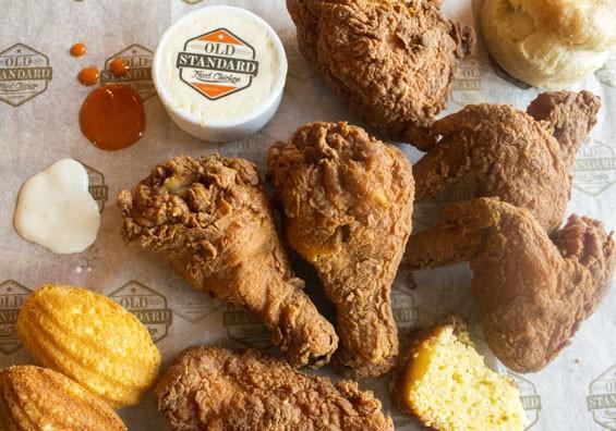 Fried chicken at Old Standard. | Mabel Suen