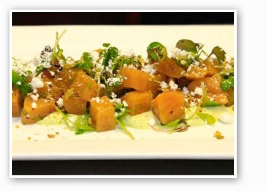 The roasted golden beet salad at Vino Nadoz. | Beth Clauss