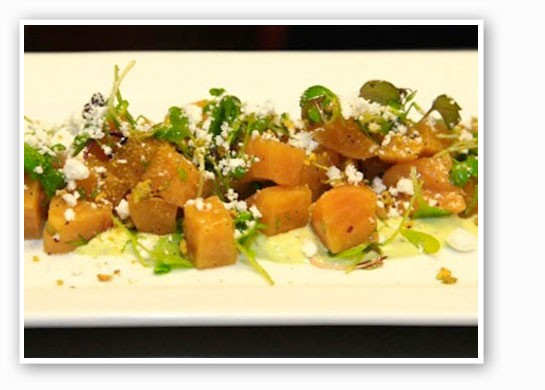 The roasted golden beet salad at Vino Nadoz. | Beth Clauss