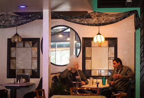 Oasis shisha lounge an obscure hookah restaurant with - Living room hookah lounge la jolla ...