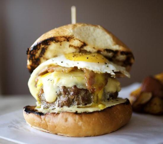 Home Wine Kitchen's epic burger - JENNIFER SILVERBERG