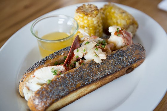 The Connecticut-style lobster roll at Three Flags Tavern.   Corey Woodruff