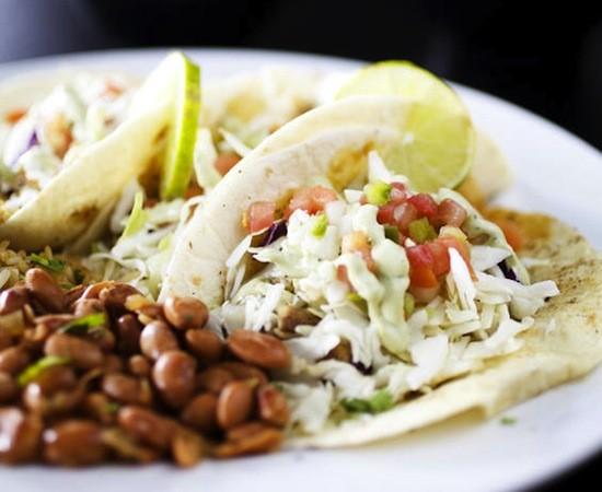 Soft tacos at Adobe Reds - JENNIFER SILVERBERG