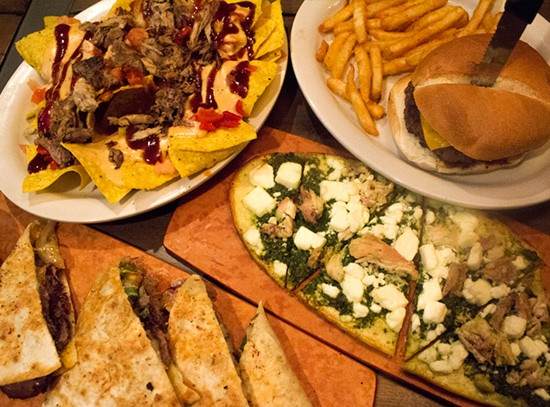 Happy-hour selections at Tamm Avenue Grill.   Photos by Mabel Suen