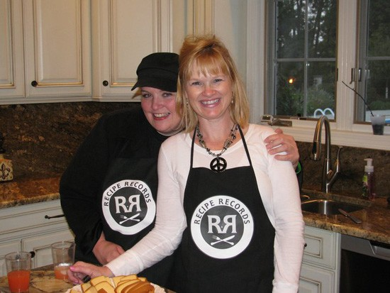Maggie McHugh and Lanea Stagg, co-authors of Recipe Records, in the kitchen. - RECIPE RECORDS