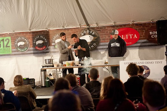 The Scottish Arms and Main & Mill cooking demo. - JON GITCHOFF