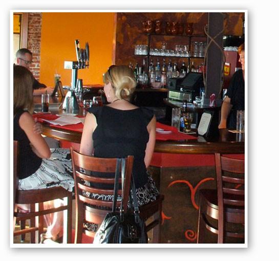 The bar at Modesto.   Kristen Klempert
