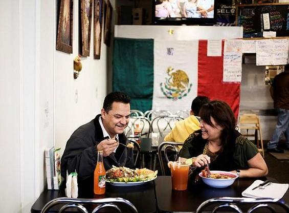 Tony and Brenda Garcia, husband and wife co-owners of La Tejana - JENNIFER SILVERBERG