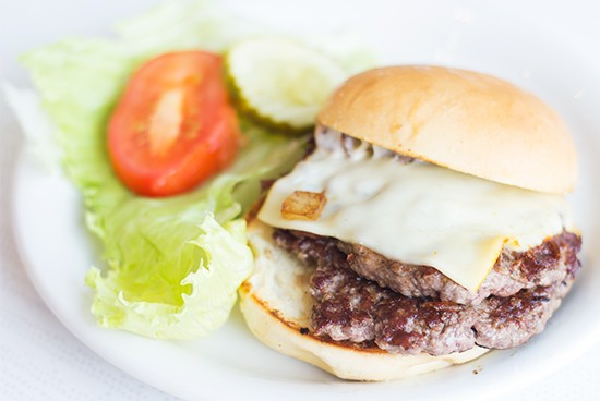 The double griddle burger at Peacock Loop Diner. | Photos by Mabel Suen