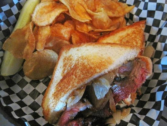 The beef brisket sandwich at Mile 277 Tap & Grill - IAN FROEB