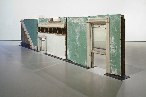 Gordon Matta-Clark, Bingo, 1974. Three building fragments: painted wood, metal, plaster and glass. - MUSEUM OF MODERN ART/LICENSED BY SCALA/ART RESOURCE, NY