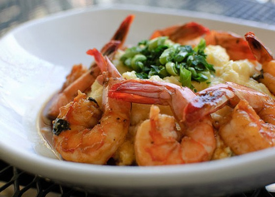 BBQ Shrimp and Jalapeño Cheddar Grits from Molly's at Taste of Soulard. | Jason Stoff