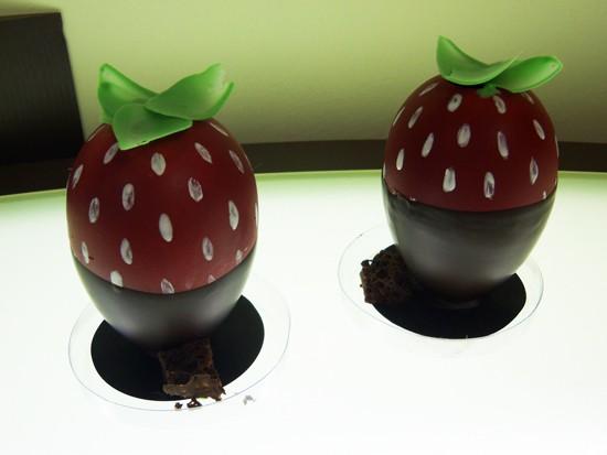 "The chocolate-covered ""strawberry"" at RJ Chocolatier - EMILY WASSERMAN"