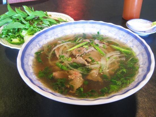 A bowl of pho tai at Asian Cafe Bar and Grill - IAN FROEB