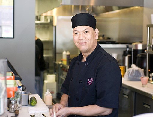 Sushi chef Dung Phan. See more photos of Café Mochi on South Grand. - PHOTO: JENNIFER SILVERBERG