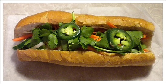 One look at Phuc Loi's bánh mi sandwich is enough to trigger an insatiable craving. - DEBORAH HYLAND