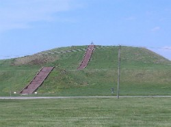 Monks Mound, presumably built under the influence of black drink. - IMAGE VIA