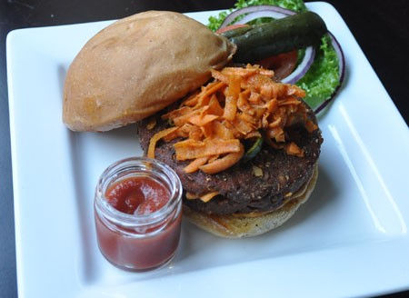 Veggie burger at Baileys' Range. | Tara Mahadevan