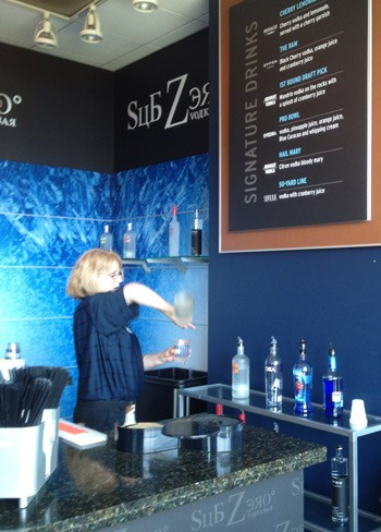 Sub Zero's 50-yard line bar. | Sub Zero Vodka Bar