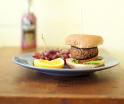 "The ""Sweet Burger,"" the veggie/vegan burger at SweetArt - KHOLOOD EID"