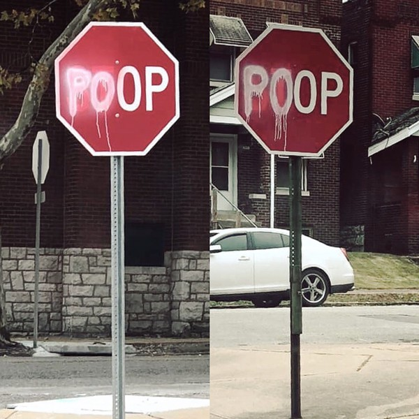Keokuk Street poop signs - PHOTOS COURTESY OF ANDREW PATANIA