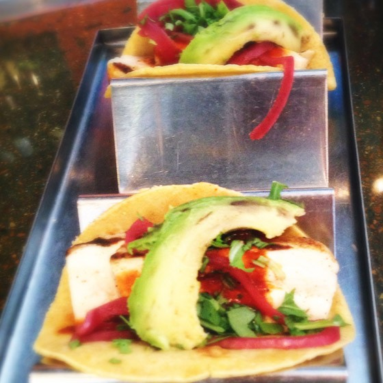 "Mission Taco Joint's ""Mofu Tacos."" 