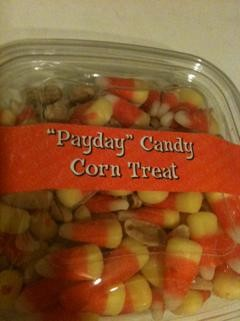 The only good use for candy corn -- fake PayDays! - ROBIN WHEELER