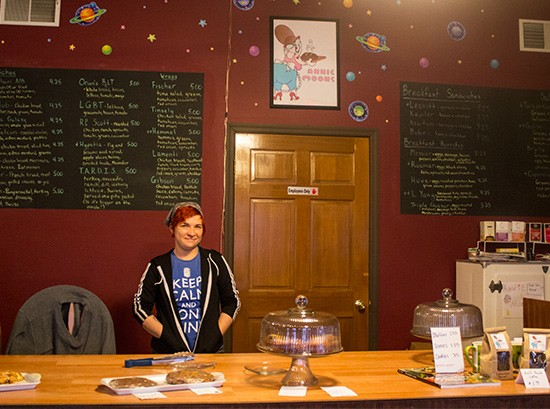 Co-owner and baker Roxanne Cypret behind the counter.
