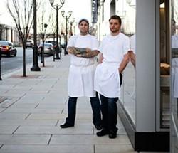 Pastaria owner Gerard Craft and executive chef Adam Altnether - JENNIFER SILVERBERG