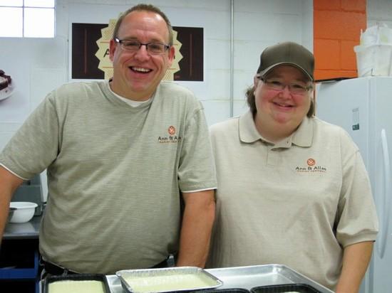 Keepin' it gooey: Dale Schotte and Marilyn Scull of Ann & Allen Baking Company. - ROBIN WHEELER