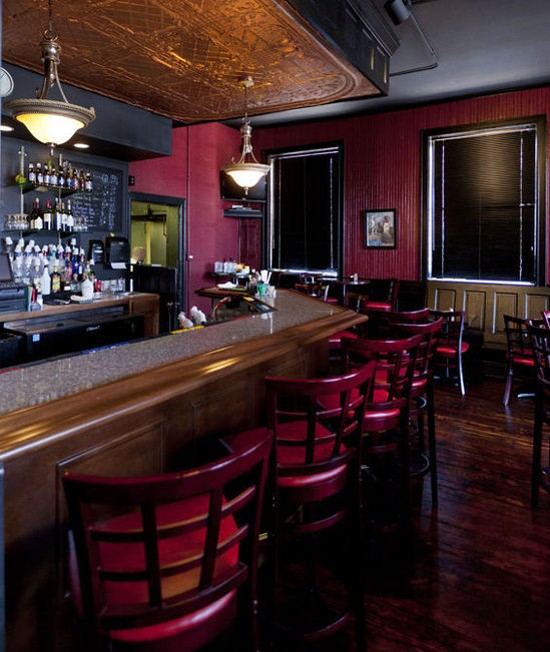 The bar inside Sassy JAC's - JENNIFER SILVERBERG