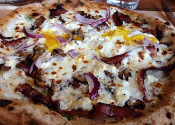 Yummy breakfast pizza.   Nancy Stiles