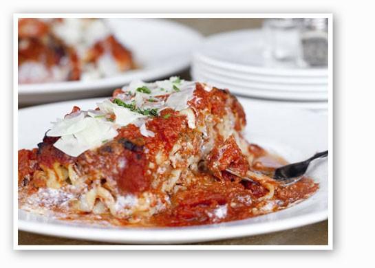 House-made lasagna with pork, beef, ricotta and parmigiano cheeses at Tavolo V.   Jennifer Silverberg