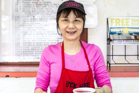 Jin Lian, mom of the family owned business with Sweet & Sour Chicken. | Jennifer Silverberg