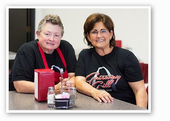 Chef Sandy Springer and owner Merry Keller. | Mabel Suen
