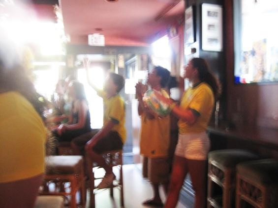 Brazil's supporters cheered so fervently that it shook the camera! - IAN FROEB