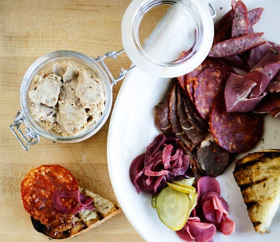 "House-cured meats, including the ""Potted Pig,"" at the Block - JENNIFER SILVERBERG"
