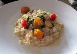 Risotto made with tomato confit. - AMANDA WOYTUS