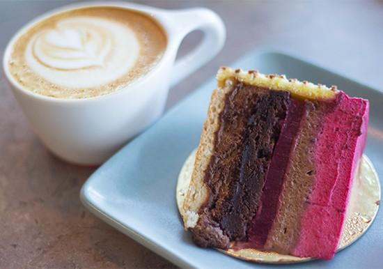 Comet Coffee's flourless chocolate-raspberry torte.   Photos by Mabel Suen
