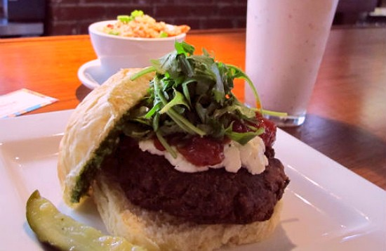 The veggie burger at Baileys' Range. - REASE KIRCHNER