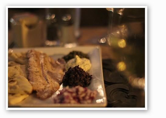 Smoked salmon crudo with pickled cucumber, creme fraiche, dill and tobiko caviar. | Nancy Stiles