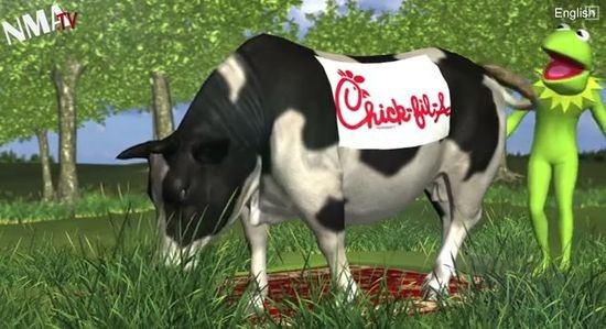 Notorious Taiwanese animators NMA had a field day with the Chick-Fil-A controversy this summer.