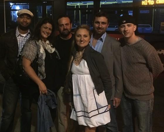 The Libertine crew in NYC(from left Philip Marshall, Audra Luedde, Nick Luedde, Audra Galliano, Josh Poletti).   Courtesy of the Libertine