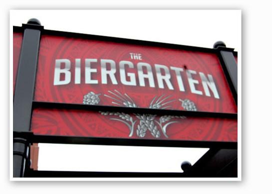 The new Anheuser-Busch Biergarten. | Nancy Stiles