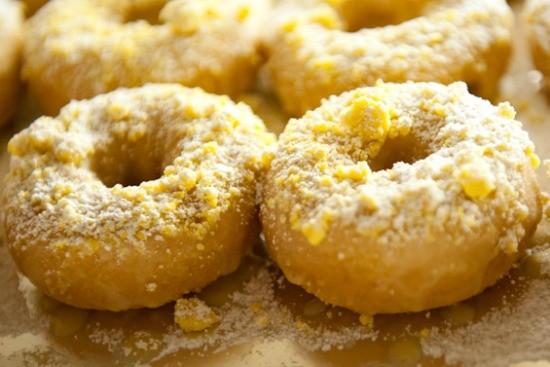 Gooey butter cake doughnut. | Jon Gitchoff