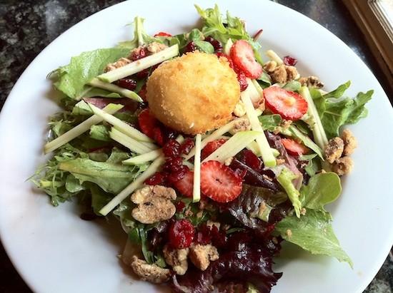 Golden chevre salad. - BRYAN PETERS