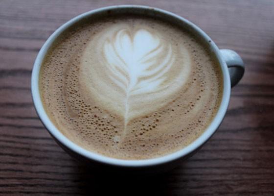 Latte art at Sump Coffee. | Mabel Suen