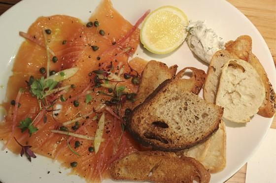 House smoked salmon with mascarpone cheese | Nancy Stiles